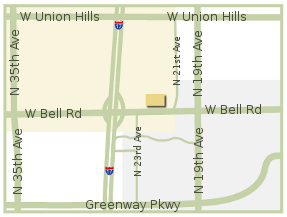 Map of Arizona Automotive Center